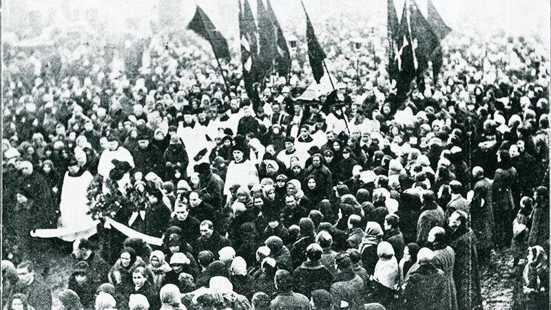Pogrzeb Ojca Melchiora Fordona w 1927 roku
