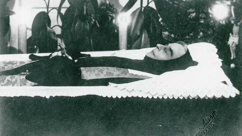Ojciec Melchior Józef Fordon po śmierci 27 lutego 1927 roku