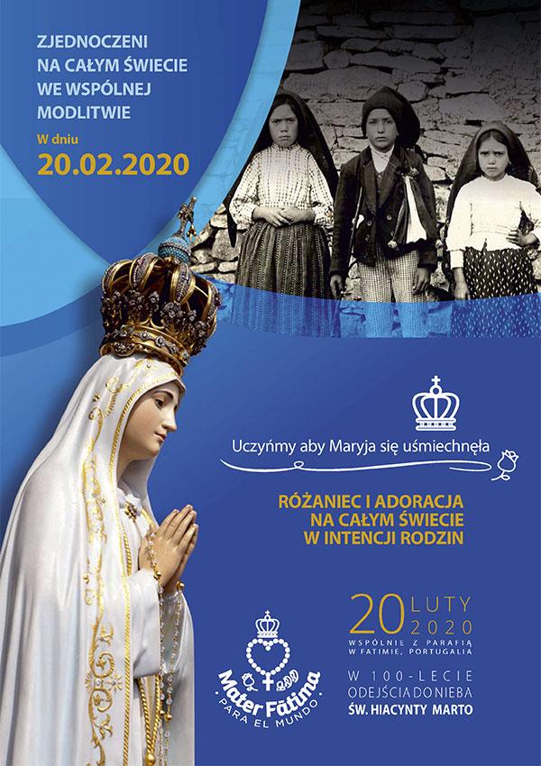 Akcja modlitewna Fatima 2020 - plakat